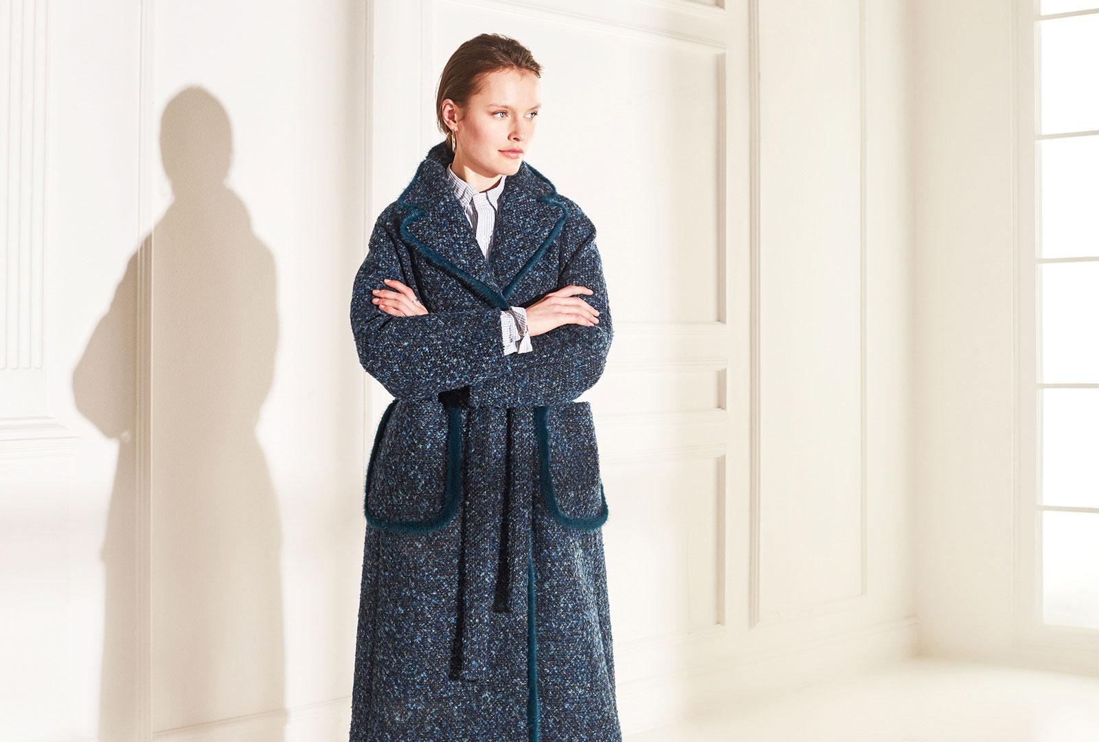 lenoci luxury - cappotto Bouclair con inserti in visone