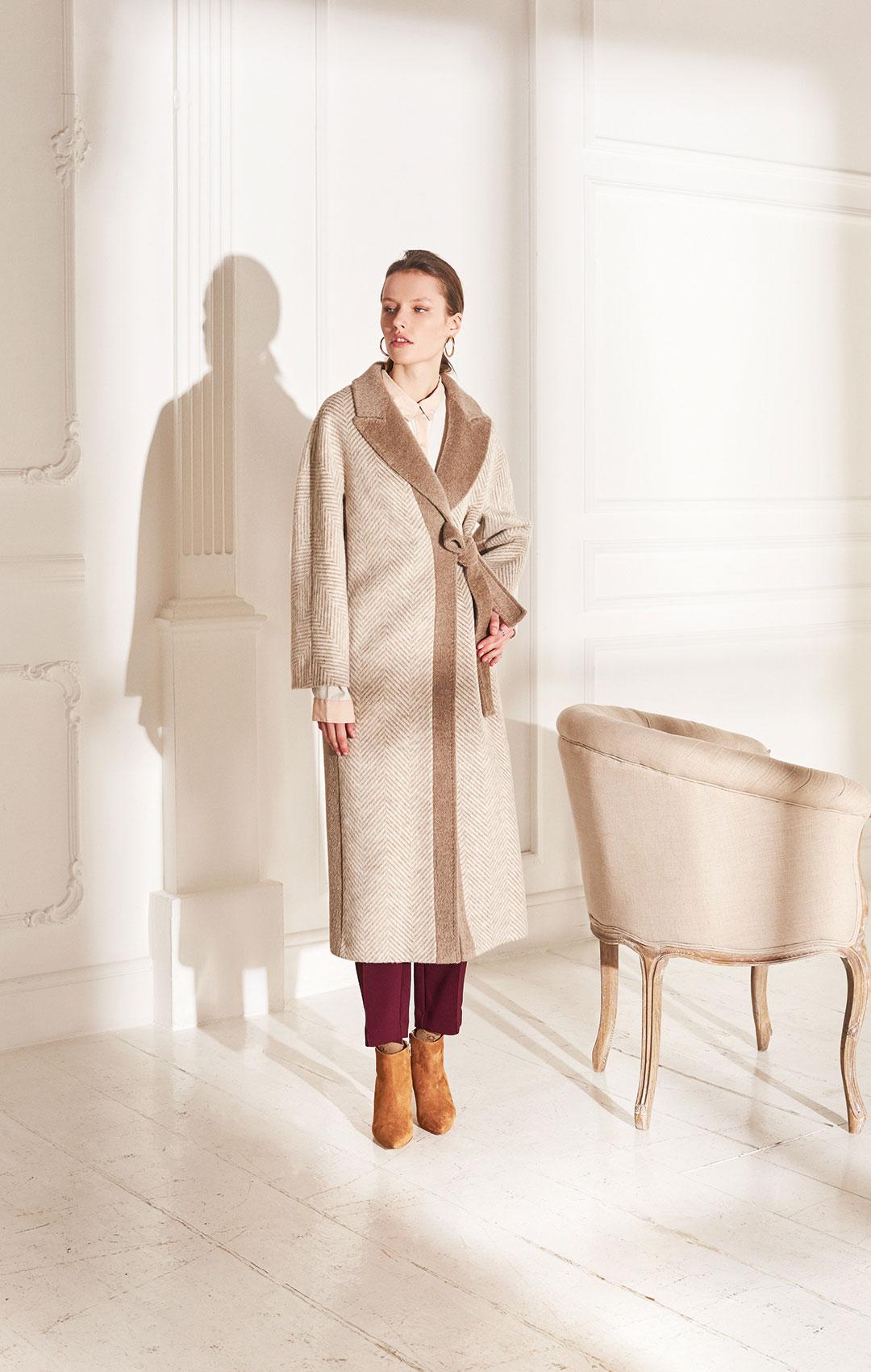 lenoci luxury - cappotto vestaglia kimono con cintura Rever in tessuto a contrasto in mohair Rever a lancia, Sartoriale