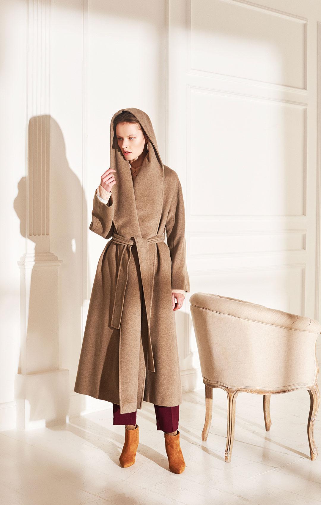lenoci luxury - vestaglia over tessuto 100% cashmere trattamento beaver super soft